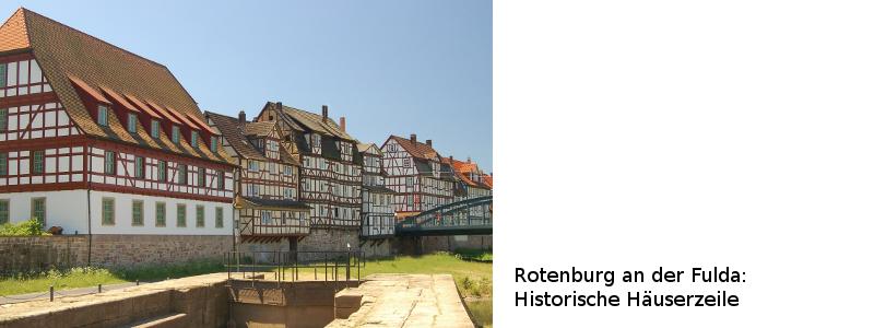 Häuserzeile in Rotenburg a. d. Fulda